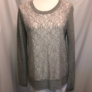Gray lace sweter
